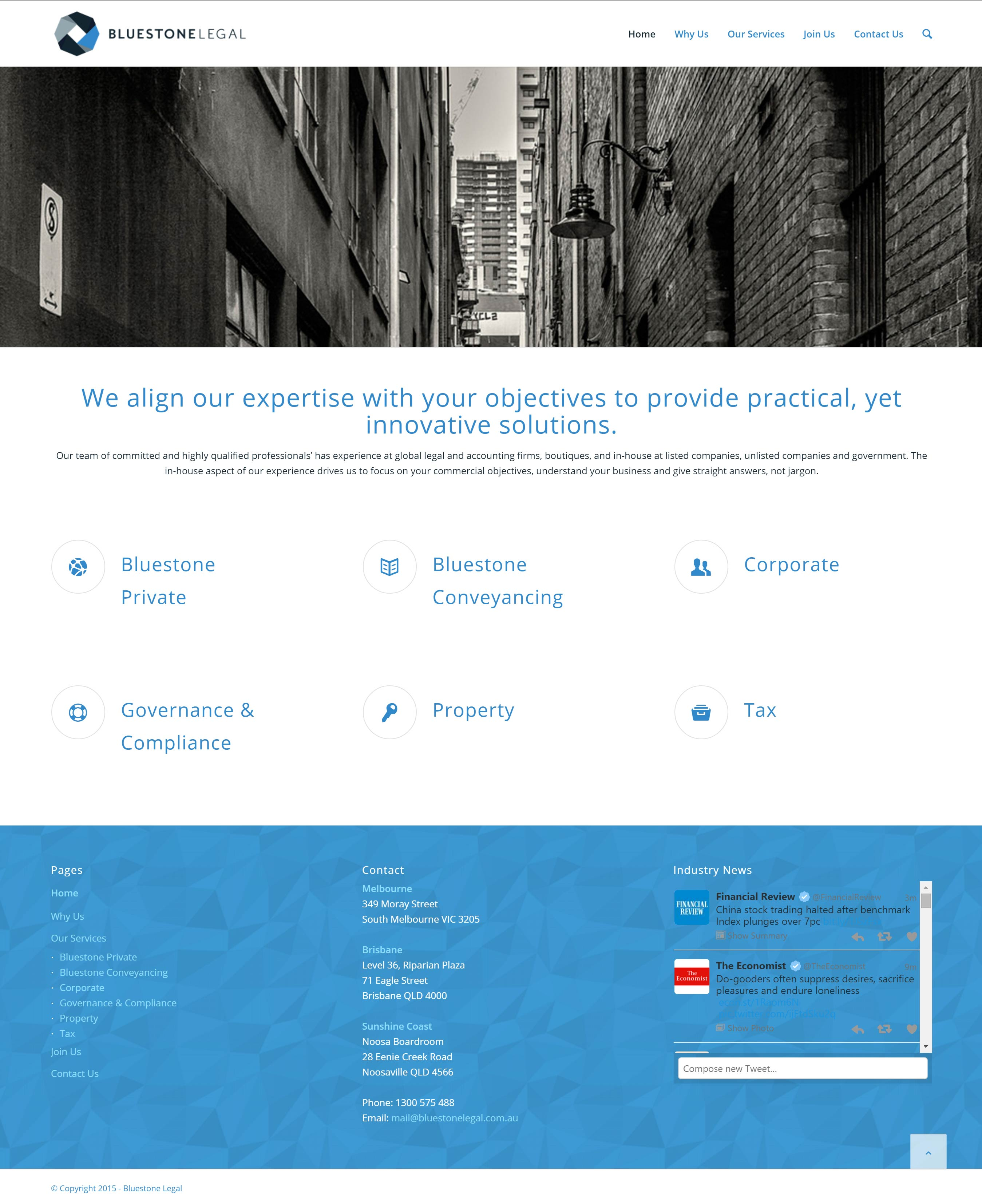 Bluestone Legal, Responsive, WordPress
