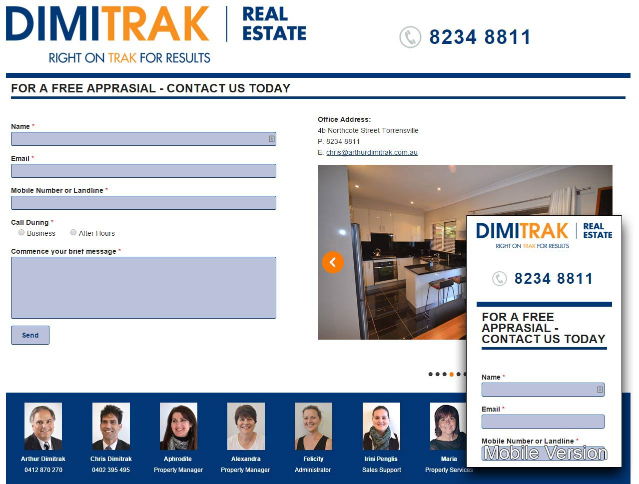 Dimitrak Real Estate, Modx, Responsive