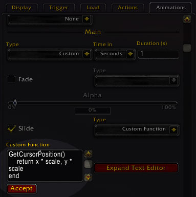 Warcraft: Attach WeakAuras to the mouse cursor | Dvorak Designs