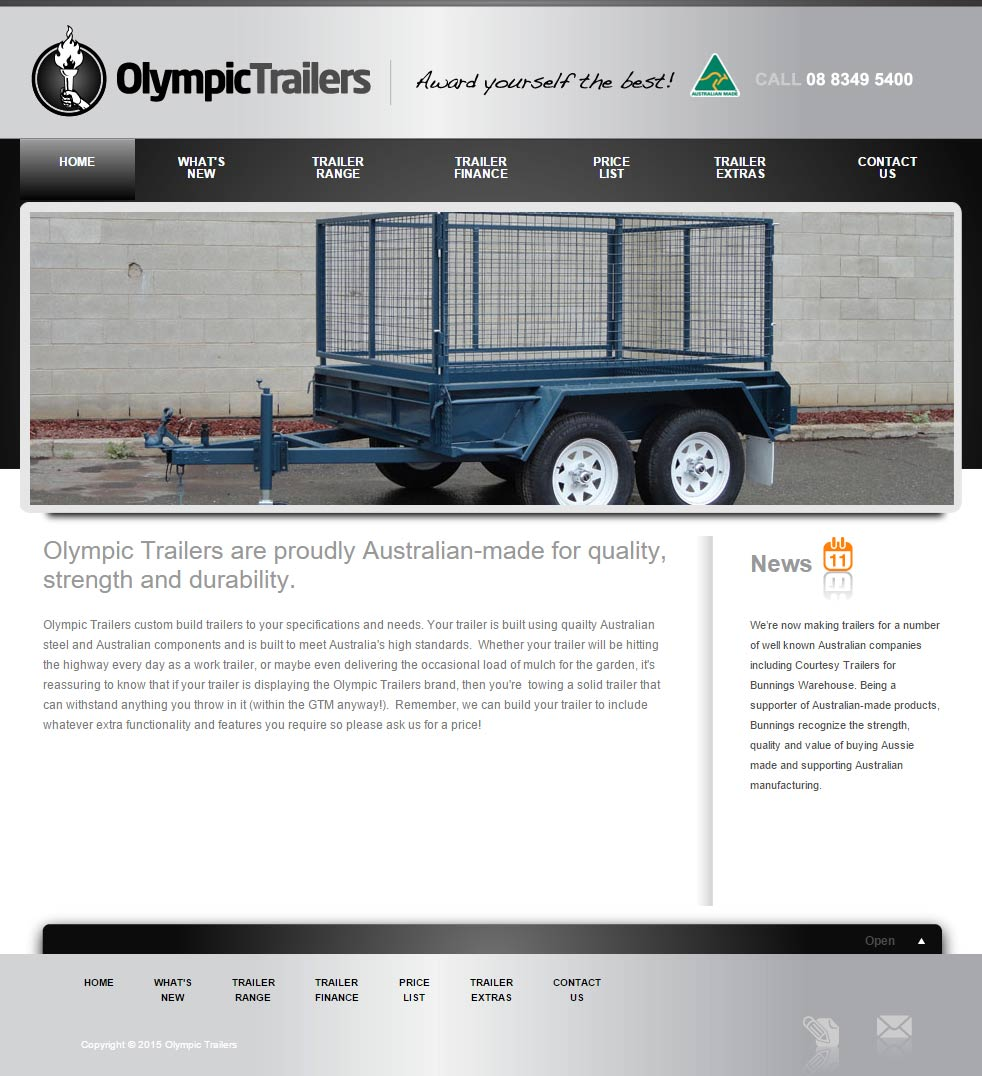 Olympic Trailers - Trailers Sub-site, Modx